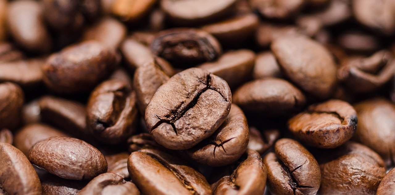 coffee beans, coffee, roasted