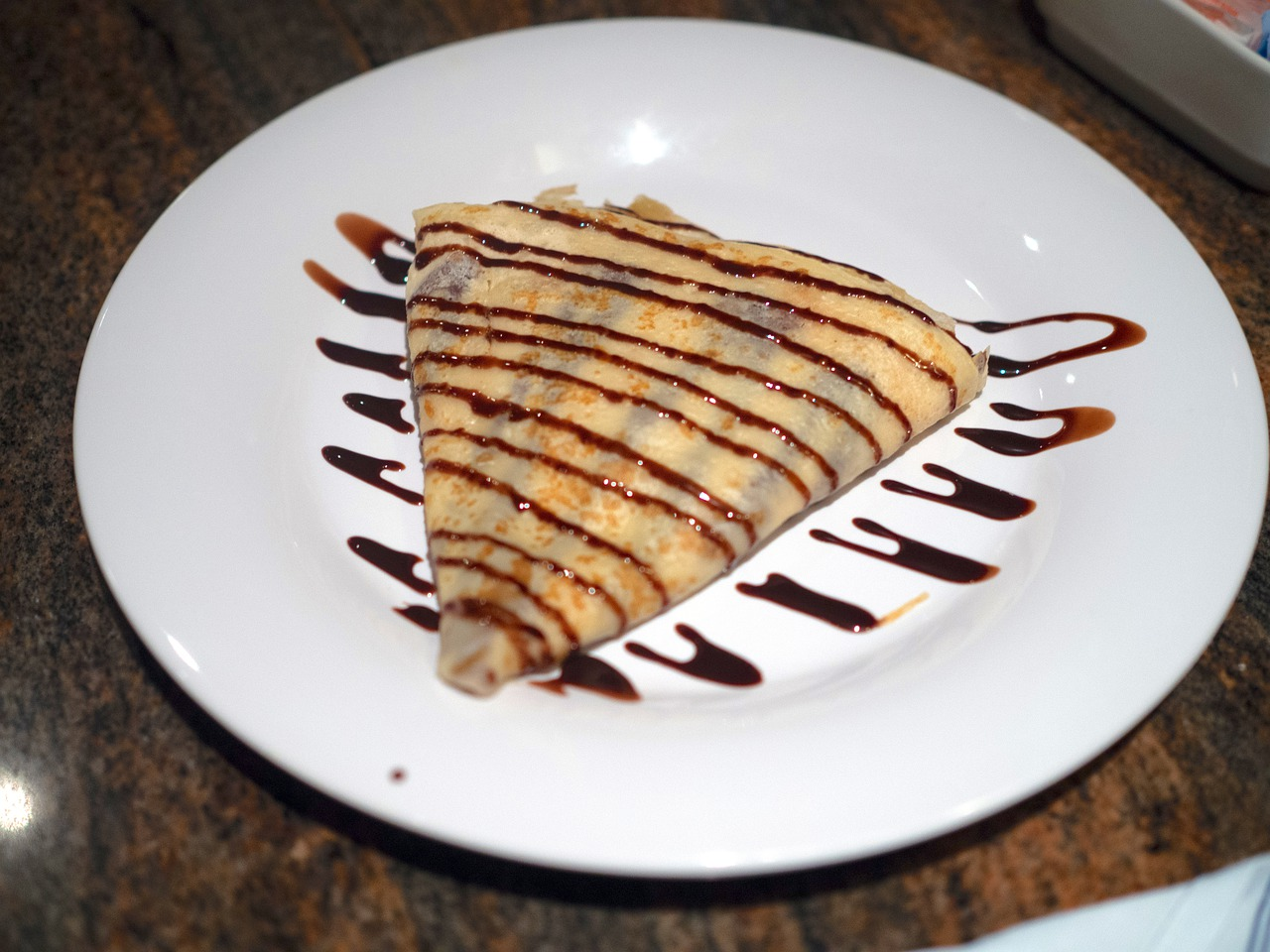 crepe, chocolate, dessert